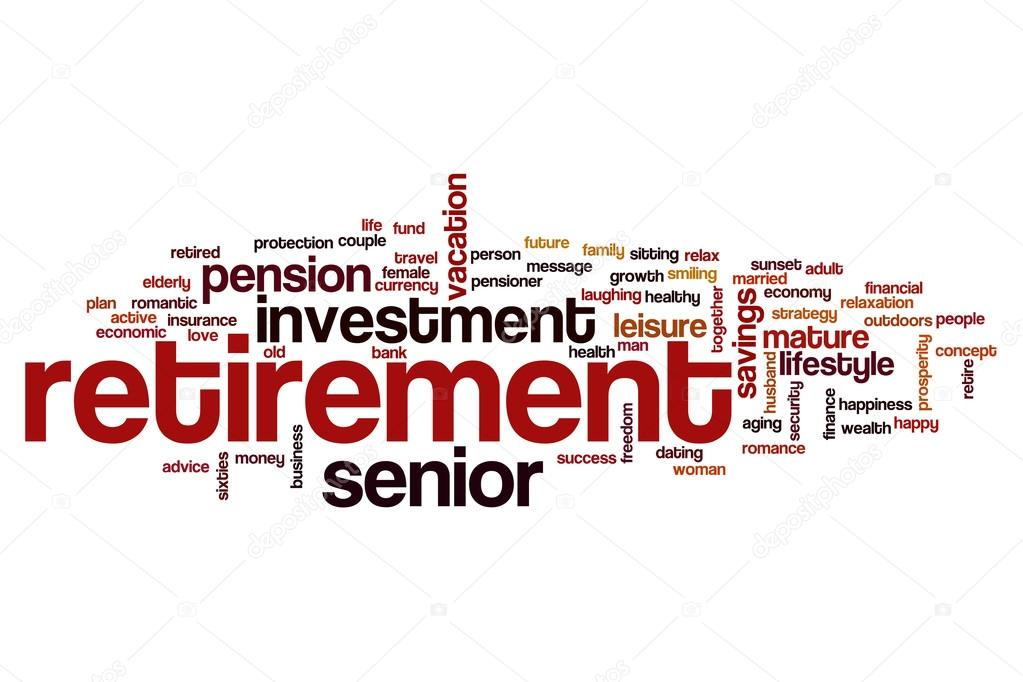 retirement word cloud stock photo ibreakstock 121397598
