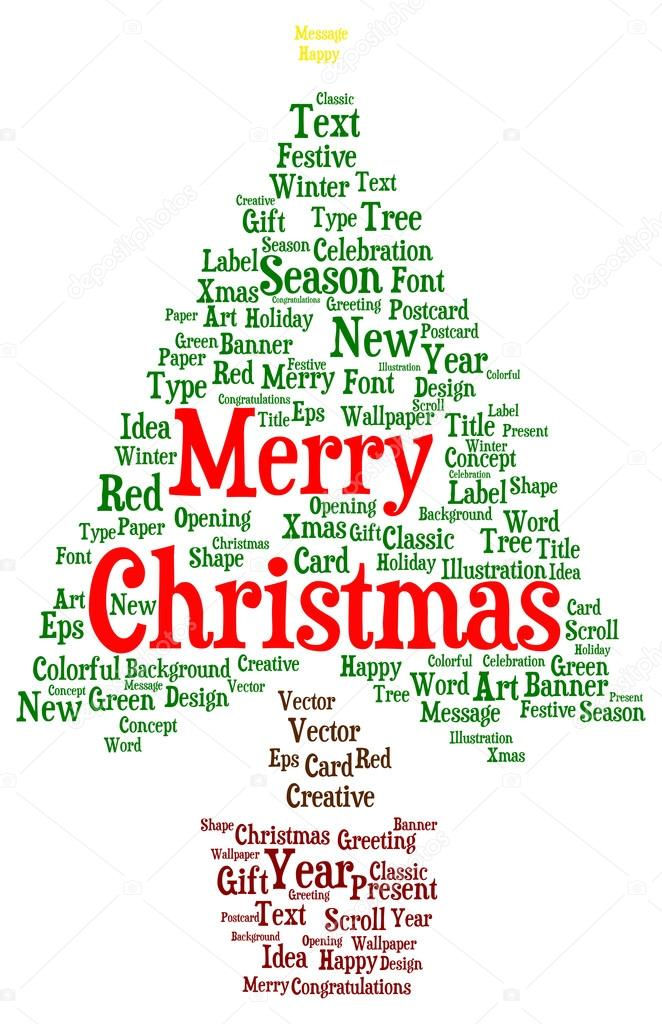 Merry Christmas word cloud — Stock Photo © ibreakstock #99563466