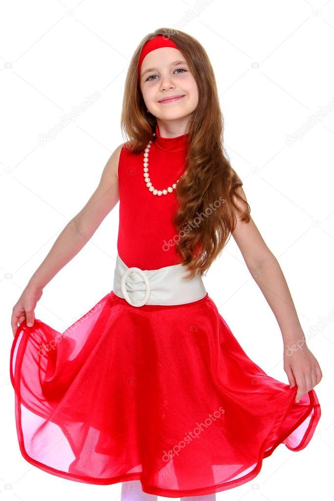 La Chica Del Vestido Rojo Foto De Stock Lotosfoto1