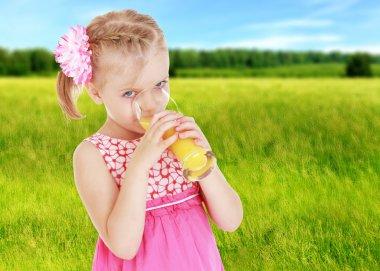 Summer mood a little girl.