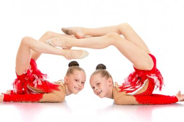 Two sisters gymnasts