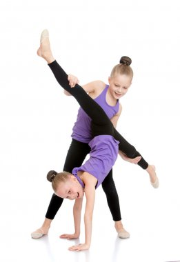 two Girls gymnasts