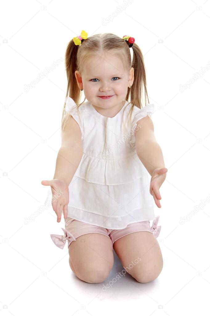 девочка на коленях Стоковое фото 169 Lotosfoto1 78819366