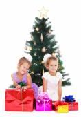 Sestry na vánoční stromeček