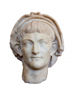 Portrait of Roman emperor Nero, isolated