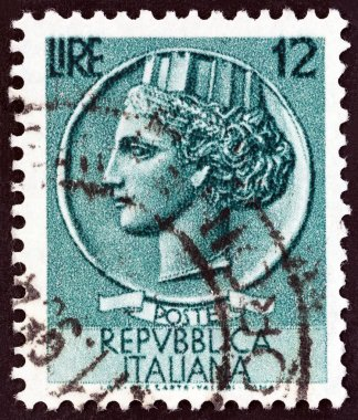 ITALY - CIRCA 1955: A stamp printed in Italy from the
