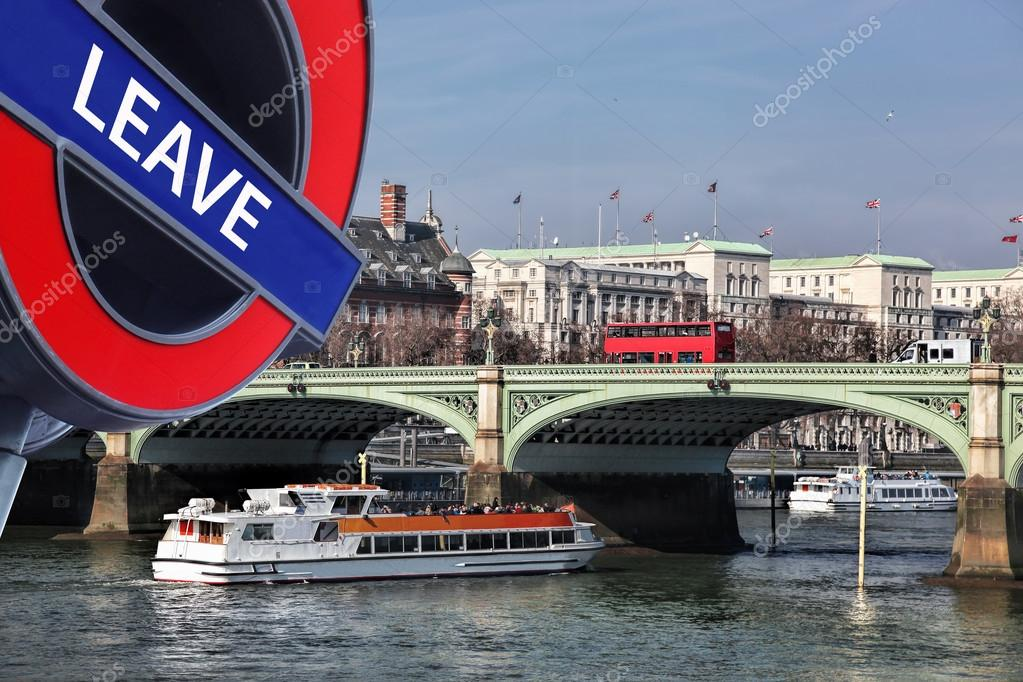 Britain Votes To LEAVE European UnionBridge With Red Buses - Cruise ship in london