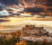 Photo Acropolis with Parthenon temple in Athens, Greece