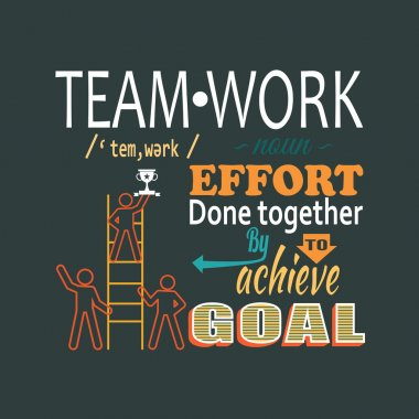 Teamwork business concept lettering