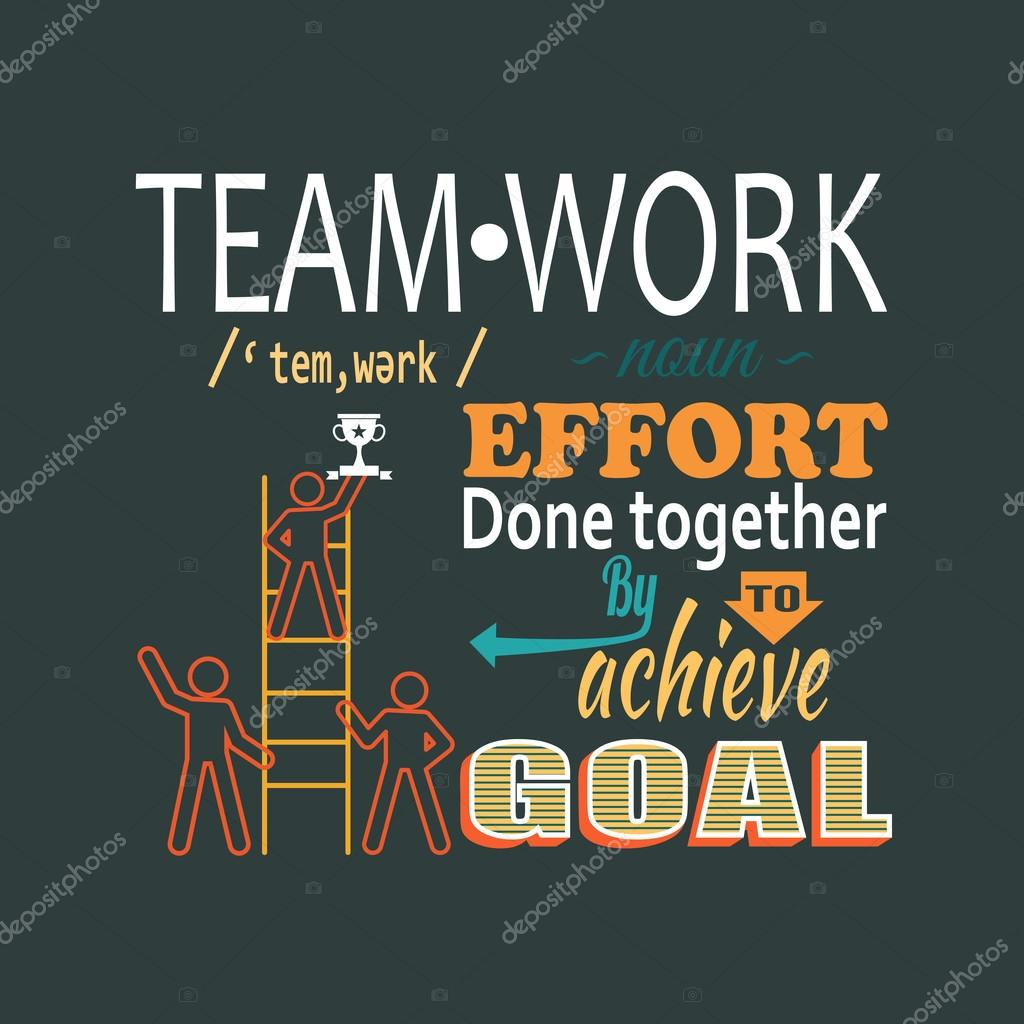 Teamwork business concept lettering