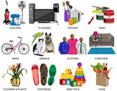 Colorful icons set for Department store