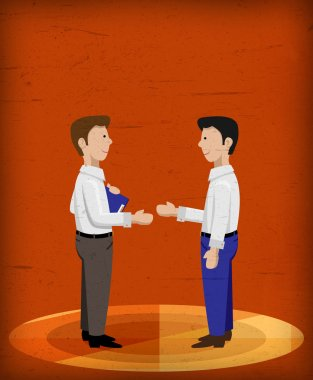 Business men shaking hands good background