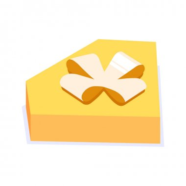 Yellow gift box in shape of a gem with bow. Gift for party, celebration, special event like birthday, christmas, valentines day. Modern vector illustration in isometric style. Isolated on white. icon