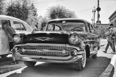 Old Chevrolet on exhibition of vintage cars