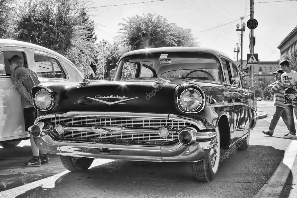 Old Chevrolet on exhibition of vintage cars – Stock Editorial Photo ...