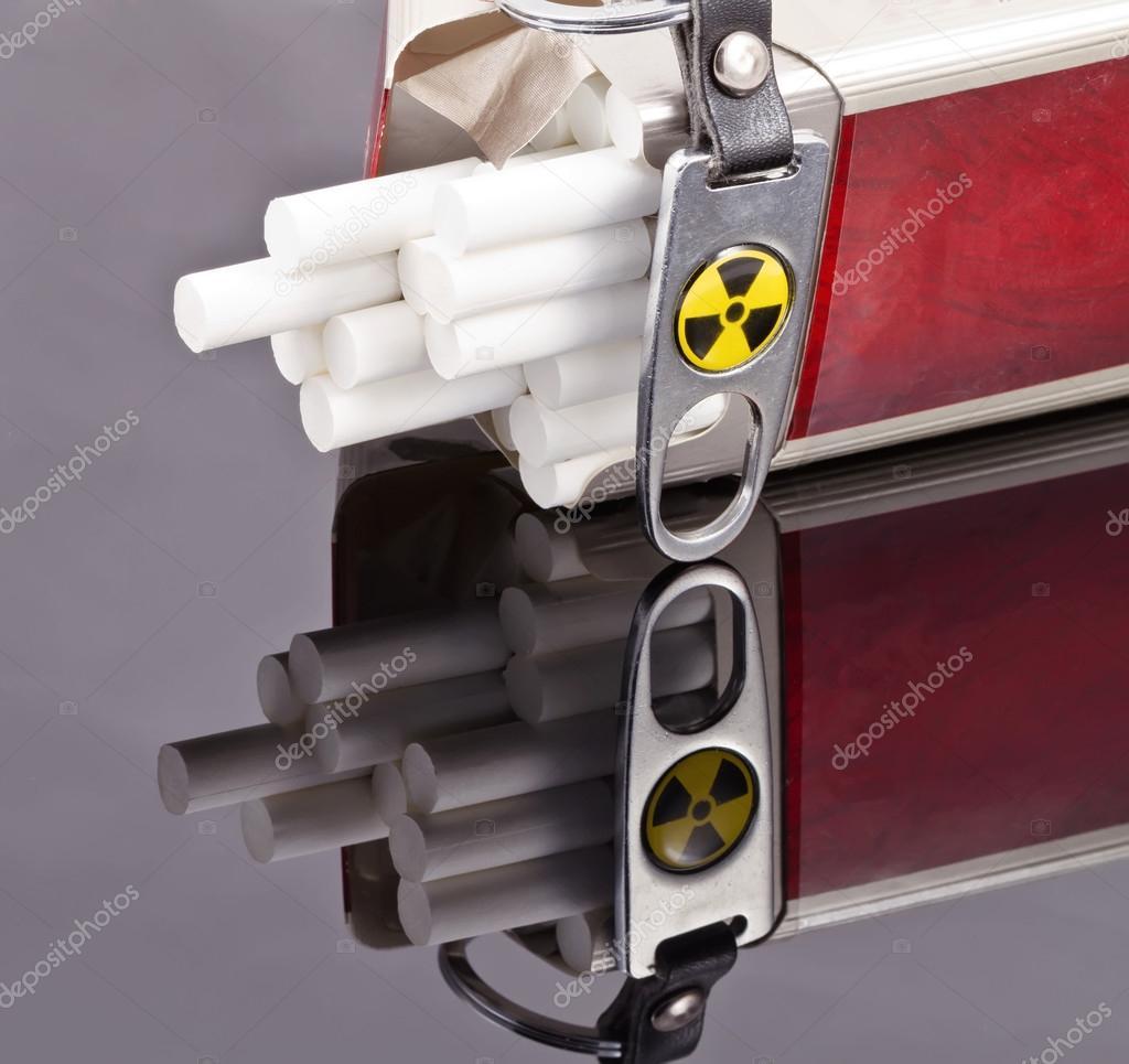 Smoking cigarettes is extremely dangerous ! — Stock Photo © shinobi