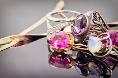 variety of jewelry made of precious metals