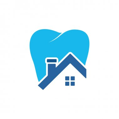 Tooth house vector logo design. Dental house icon logo design. icon