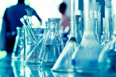 Laboratory glassware background