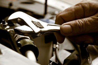 Professional car mechanic, auto repair concept stock vector