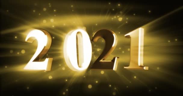 Új év 2021 ragyogó (zökkenőmentes)