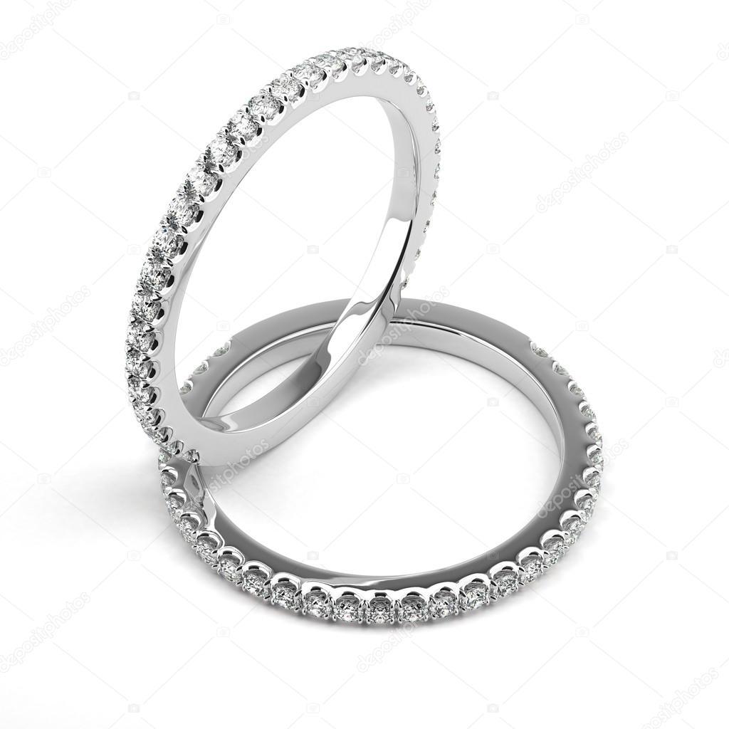 Dva Snubni Prsteny Stock Fotografie C Selensergen 57516899
