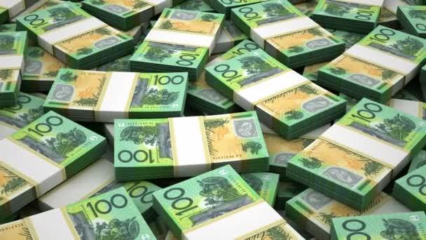 Avustralya Doları Yığını Stok Video Selensergen 76814037