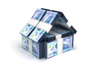 Real Estate Concept Kazakh Tenge