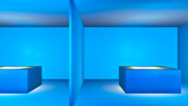 Broadcast Passing Hi-Tech Rooms Pit Alley, Kék, Közlekedés, 3D, HD