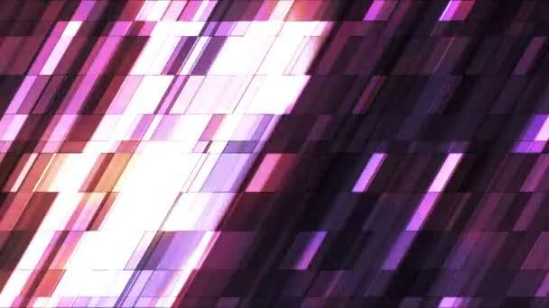 Sugárzott twinkling Slant Hi-tech kis bárok, lila, absztrakt, loopable, HD