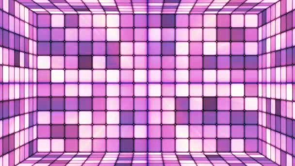 Broadcast twinkling Hi-tech kocka szoba, lila absztrakt, loopable, HD