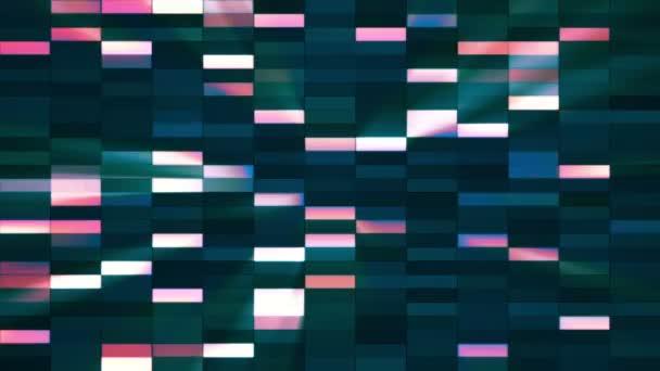 Horizontální malé čtverci Hi-Tech barů, multi-barevná, abstraktní, smyk, HD