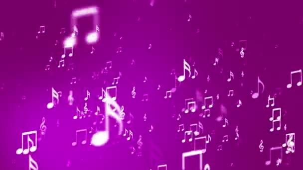 Broadcast emelkedő zene Notes, Pink, események, loopable, HD