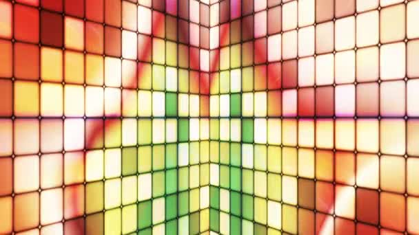 Broadcast Twinkling Hi-Tech Cubes Walls, Multi Color, Events, Loopable, HD