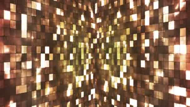 Broadcast Firey Light Hi-Tech Squares Walls, Brown, Abstract, Loopable, HD