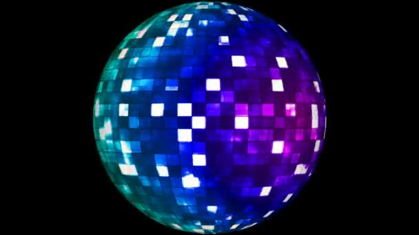 Firey Light Hi-Tech Squares Spinning Globe, Multi Color, Corporate, Alpha Channel, Loopable, HD