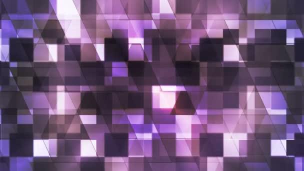 Pislákoló Szia-Tech négyzet gyémánt könnyű minták, bíbor, elvont, loopable, HD