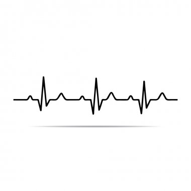 Vector Illustration heart rhythm ekg .vector stock vector