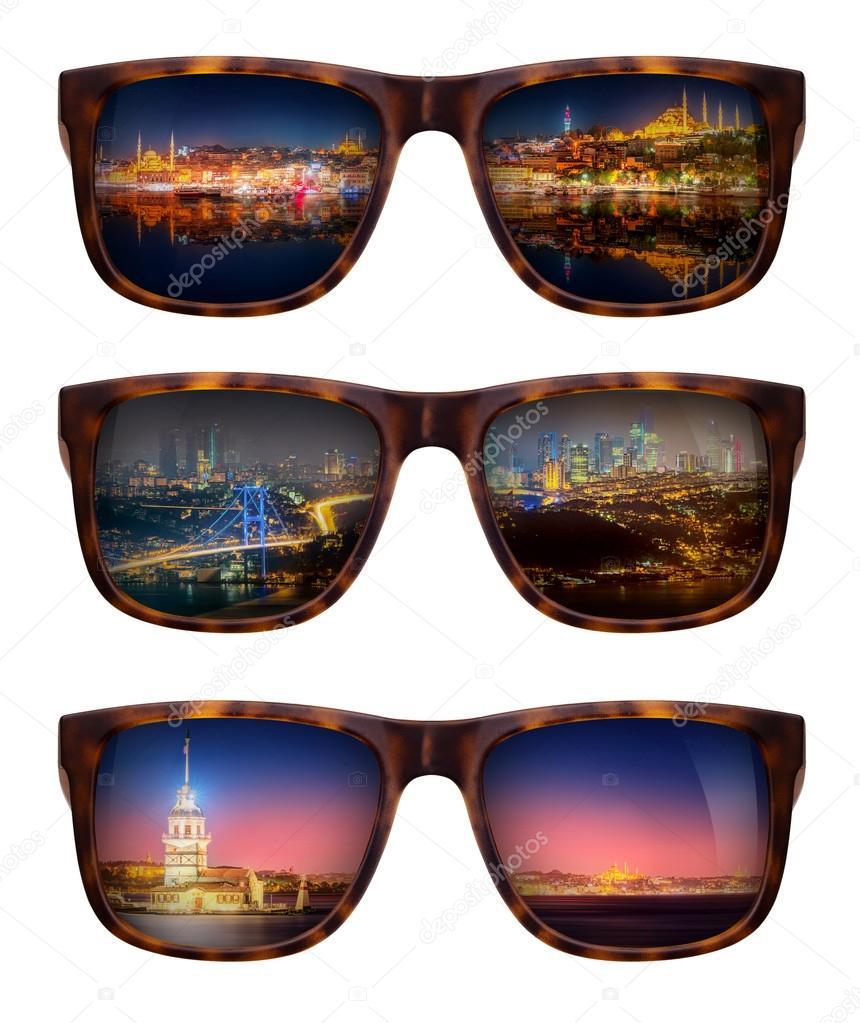 Occhiali — Panorama Di Da Sole Con Foto Istanbul Stock Bellissimo f7ygbv6Y