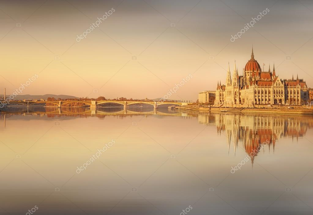 View of hungarian Parliament building, Budapest