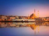 Krása panorama Istanbulu v dramatické západ slunce