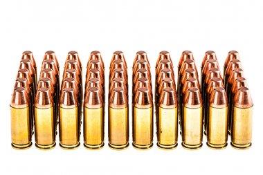 Pistol Bullets on white