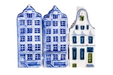 Canal houses facade