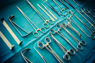 Surgical clamps collection