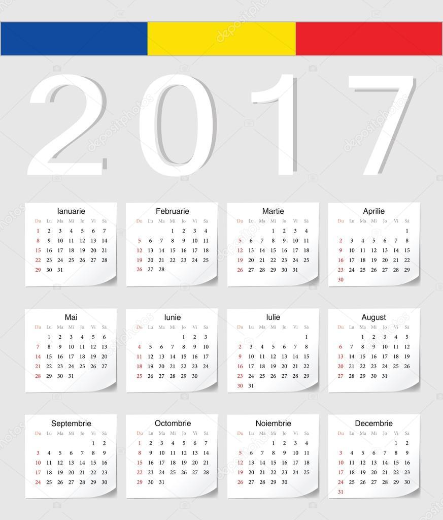Calendario Rumeno.Calendario Rumeno 2017 Vettoriali Stock C Julvil11 110479686