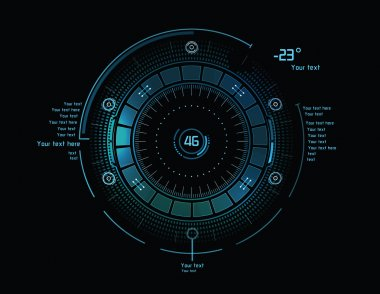 Futuristic infographics as head-up display