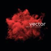 Vektorové ilustrace červeného dýmu