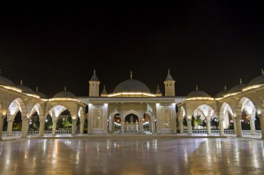 The courtyard of the mosque in the Heart of Chechnya