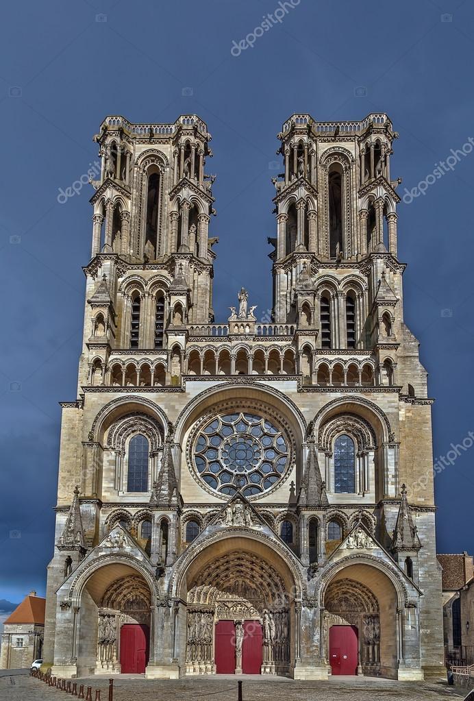 laon cathedral france stock photo borisb17 122867316
