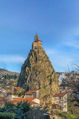 Saint-Michel d'Aiguilhe (St. Michael of the Needle) is a chapel on the rock in Le Puy-en-Velay, France.